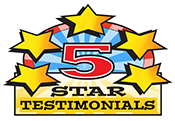 5 Star testimonials logo